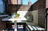 DIY panneaux de la vie privée pour un petit balcon