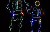Lumières de costume de squelette fil EL contrôlées par un Arduino