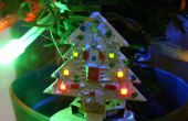 Mini animation arbre de Noël LED 32 x 32mm