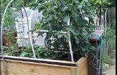 Boîte de planteur de jardin pont