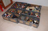 Carton et ductape lego boîte de rangement - Caja para almacenar lego de Carton y precinto