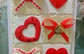 Carte de Saint Valentin à la main