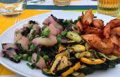 Salade de pommes de terre aux courgettes marinées grillées de jardin