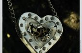 Collier coeur steampunk
