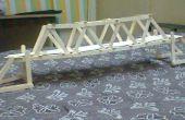 Prototype de pont à l'aide de bâtonnets de glace