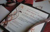 Automne élégant couleur Invitations de mariage