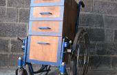 Station de travail avec fauteuil roulant