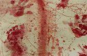 Bloodsplatters, elle a fait. Sang sur votre paillasson et tapis.