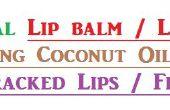 Baume à lèvres naturel / rouge à lèvres à l'aide d'huile de noix de coco au talon les lèvres gercées ou talons fendillés.