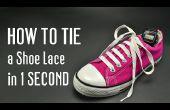 Comment nouer un lacet de chaussure en 1 seconde. Très rapide !