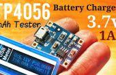Chargeur de batterie + capacité (mAh) testeur