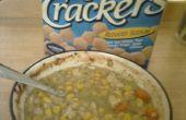 Craquelins sur soupe sans désordre