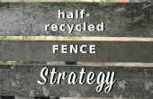 Moitié recyclé clôture stratégie