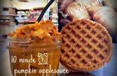 Compote de citrouille de 10 minutes avec la protéine gaufres