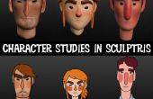 Création de personnage bustes en Sculptris