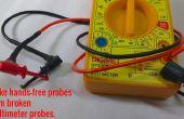 Comment faire les mains libres des sondes de cassé sondes multimètre