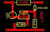 Soufflé de fusible indicateur Circuit avec Led