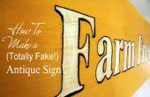 Comment faire un signe Antique (totalement faux)
