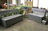 Excellent & simple banc de rangement de jardin