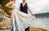 Peint à la main, Upcycled robe de mariage