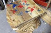 Palette bois Table avec refroidisseur caché