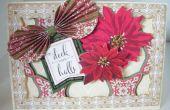 Comment faire un Noël découper carte Poinsettia