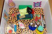 Boîte à chaussures Dollhouse chambre pour Littlest Pet Shop