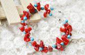 Comment faire un Bracelet Criss Cross avec corail et Turquoise perles