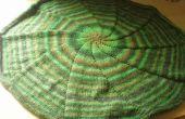 Couverture circulaire se tricote en rond