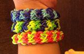 Comment faire bracelet arc-en-ciel Loom double x Croix * niveau intermédiaire *
