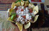 Nachos de salade de thon aux fines herbes