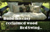 Rappel du projet : Comment construire un SWING de lit simple à l'aide de bois récupéré.