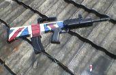 Peindre le drapeau britannique sur l'unité d'airsoft