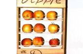 Panier de fruits santé : Une pomme pour la route.