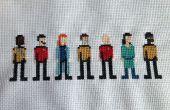 Point de croix Star Trek : La prochaine génération Crew