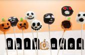 """Halloween sur le thème """"brownie"""" gâteau pop"""