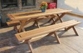 Élégante Table de pique-nique avec bancs détachés