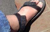 Difficulté vos sandales velcro pour gérer les pieds larges