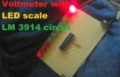 Voltmètre avec échelle LED circuit LM 3914