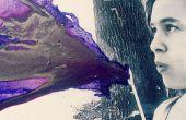 DIY souffle Art Crayon violet ! À l'aide de figue violette !