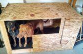 Clubhouse de chien en bois pour la vie de Garage peluche