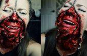 Fermeture à glissière visage Halloween maquillage Tutorial