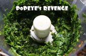 La revanche de Popeye - salade d'épinards crus