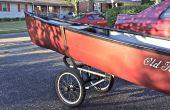 Canoë/Kayak Caddy mod à partir d'une poussette de Jogging