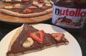 Pizza Dessert Nutella (pâte à partir de zéro!)