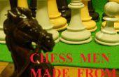 Pièces d'échecs en béton !