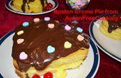 Romantique Boston Creme tarte coeurs pour la Saint-Valentin