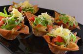 Boeuf « Tacos » dans une tasse de pâte Phyllo