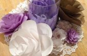 Papier cartonné papier fleurs