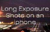 Exposition à long photos sur Iphone
